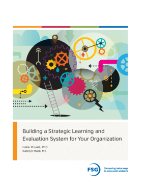 Building a Strategic Learning and Evaluation System for Your Organization