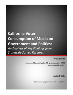 California Voter Consumption of Media on Government and Politics