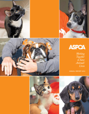 Working Together to Save Animals' Lives: The ASPCA's 2012 Annual Report