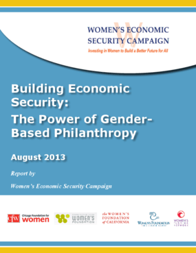 Building Economic Security: The Power of Gender-Based Philanthropy