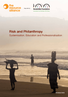 Risk and Philanthropy: Systemisation, Education and Professionalisation