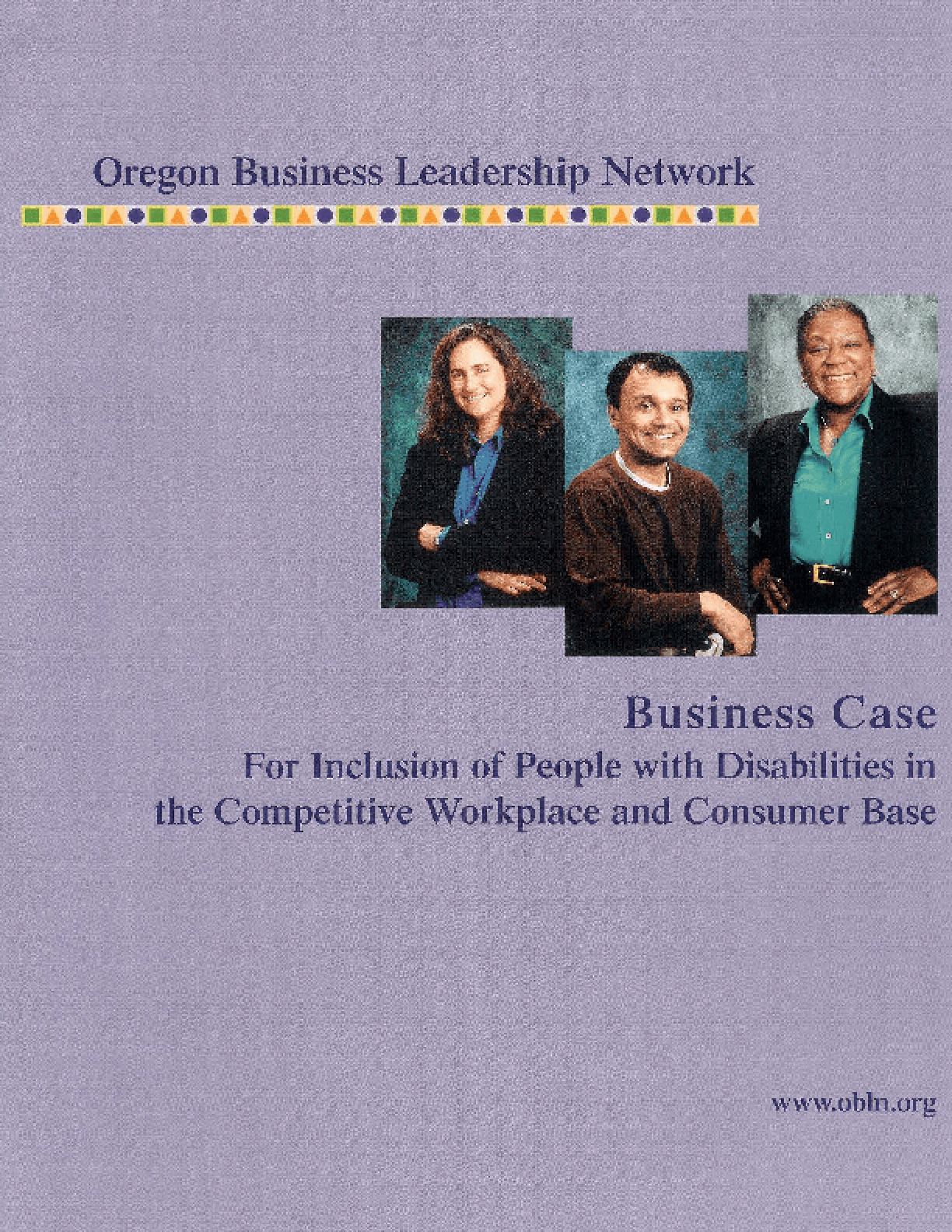 The Oregon Business Case for Inclusion of People With Disabilities in the Competitive Workplace and Consumer Base