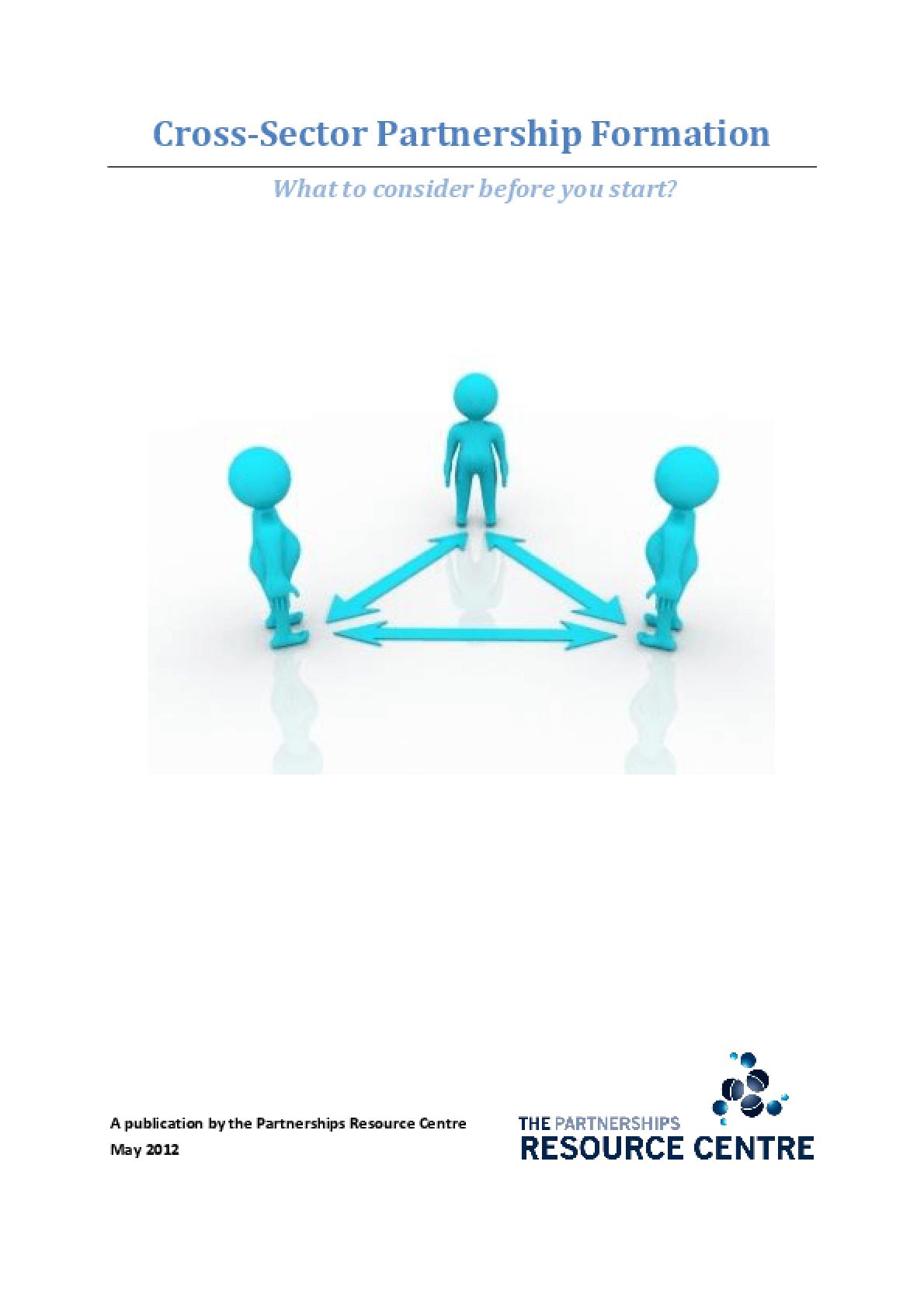 Cross-Sector Partnership Formation
