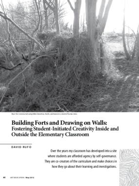 Building Forts and Drawing on Walls: Fostering Student-Initiated Creativity Inside and Outside the Elementary Classroom
