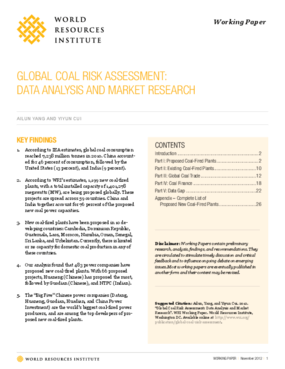 Global Coal Risk Assessment: Data Analysis and Market Research