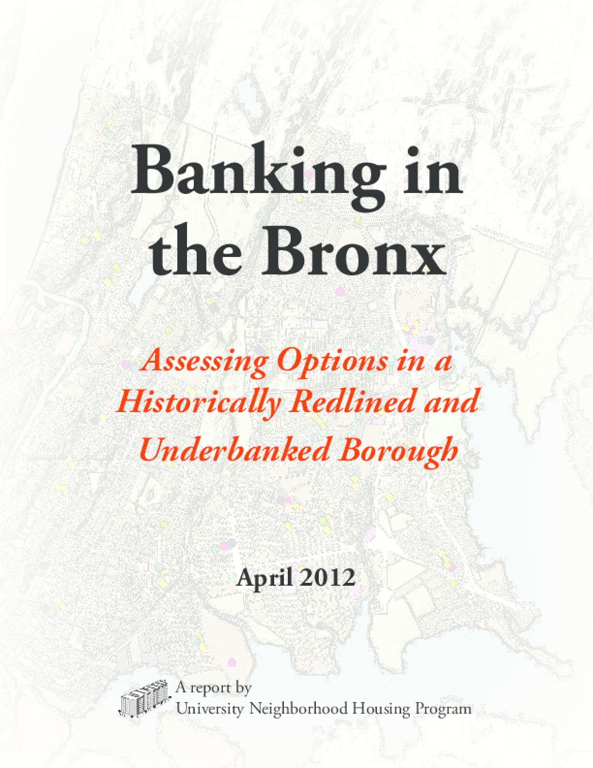 Creating a Bronx Economy: Banking Options and Alternative Solutions