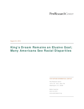 King's Dream Remains an Elusive Goal; Many Americans See Racial Disparities