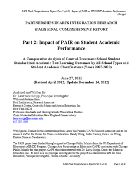 PAIR Final Comprehensive Report Part 2: Impact of PAIR on Student Academic Performance