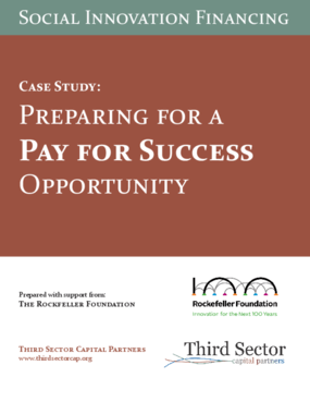 Preparing for a Pay for Success Opportunity