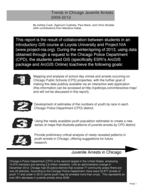 Trends in Chicago Juvenile Arrests 2009-2012