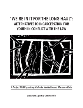 We're in it for the Long Haul: Alternatives to Incarceration for Youth in Conflict with the Law