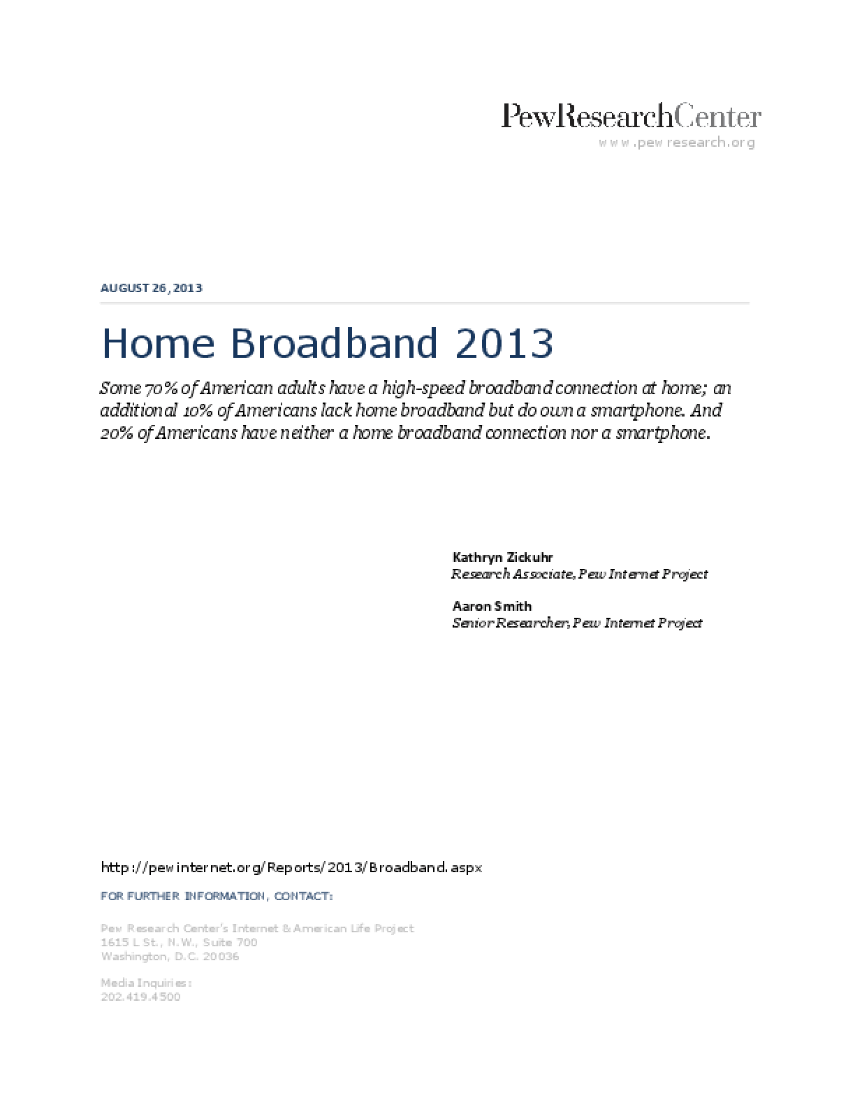 Home Broadband 2013