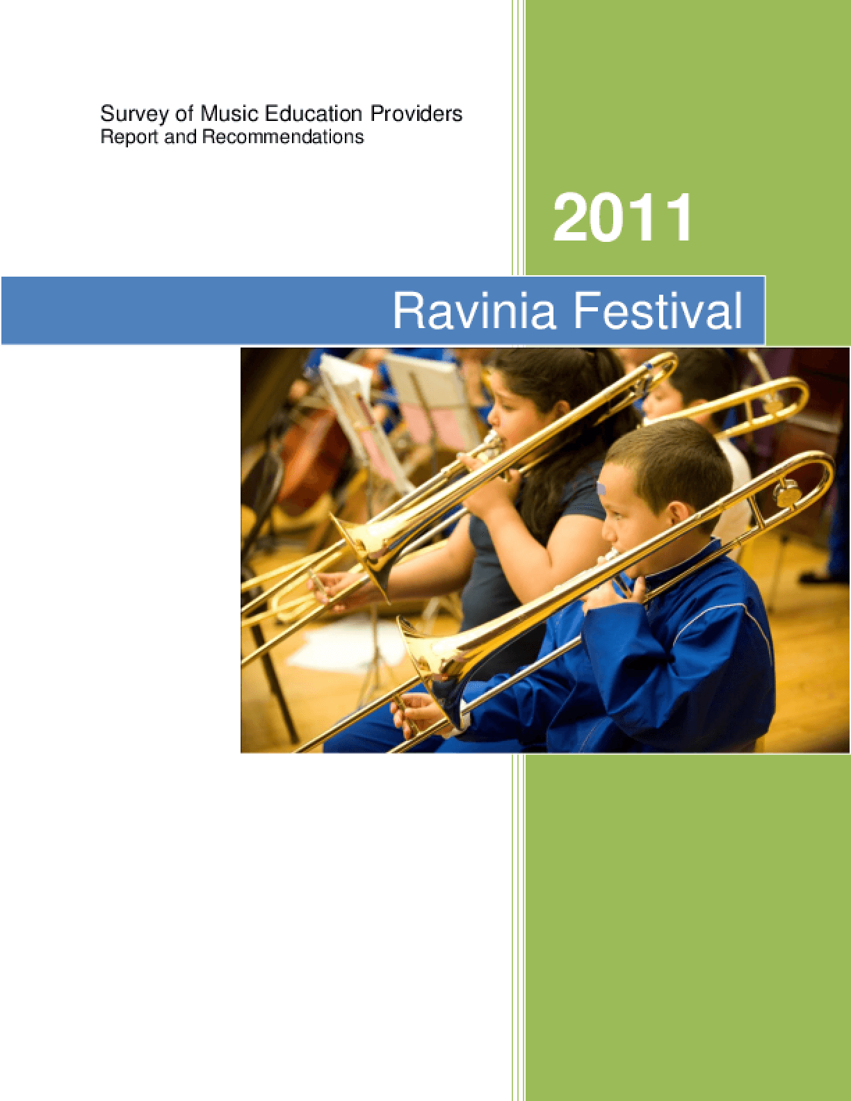 Survey of Music Education Providers: Report and Recommendations