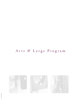 Arts At Large Handbook Pt. 2- Planning Your Successful Arts @ Large Program