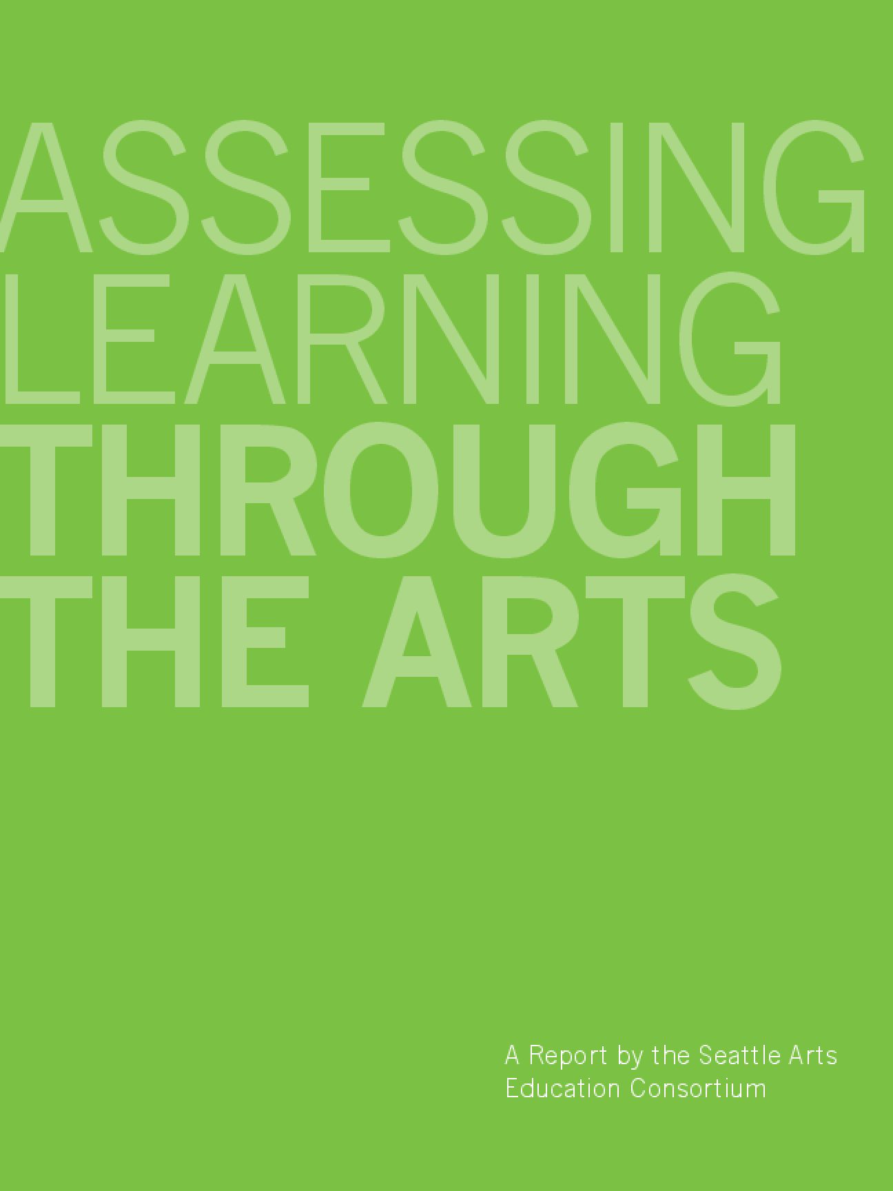 Assessing Learning Through the Arts