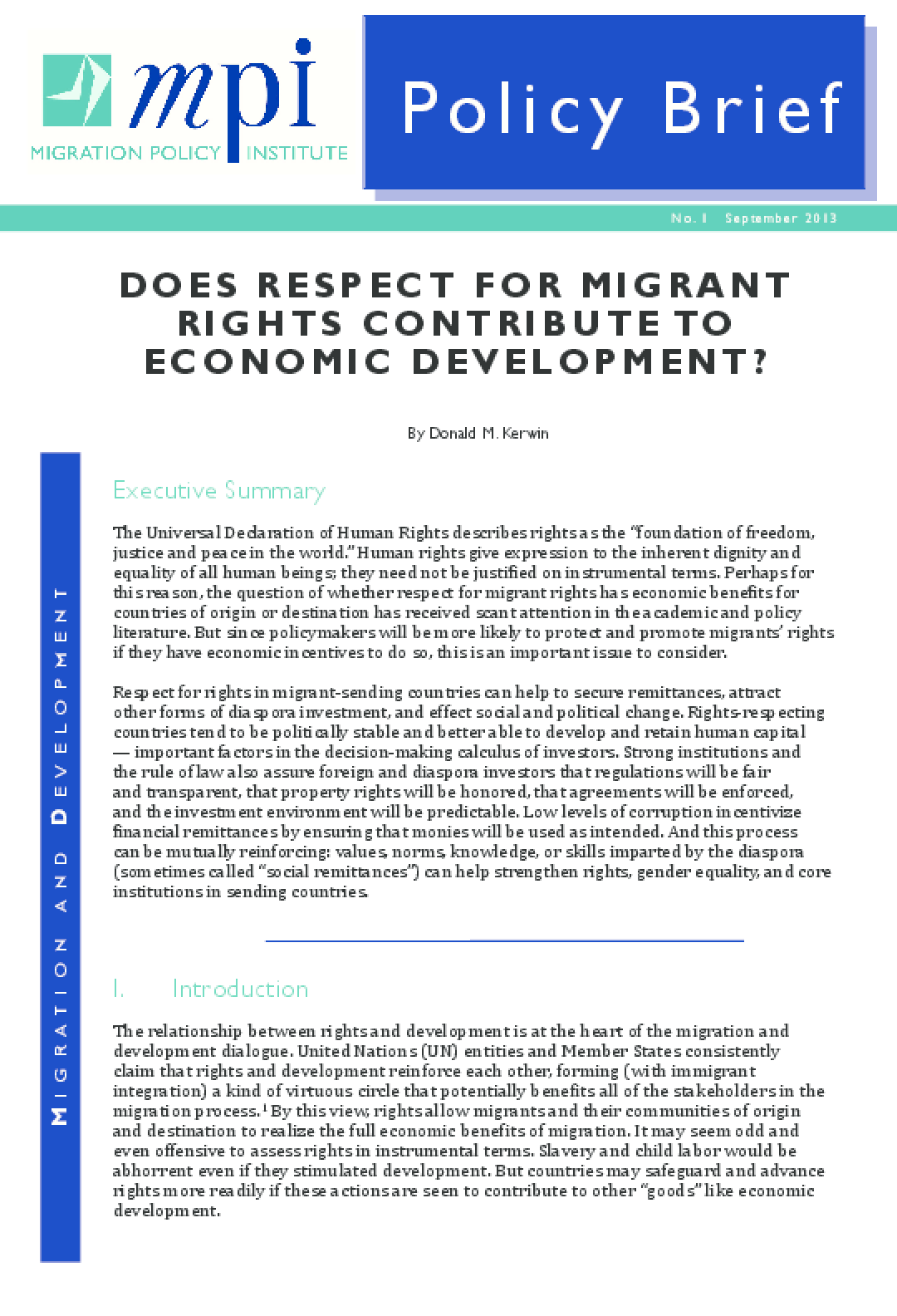 Does Respect for Migrant Rights Contribute to Economic Development?