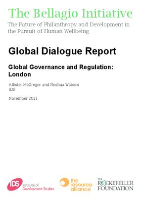 Global Dialogue Report - Global Governance and Regulation: London
