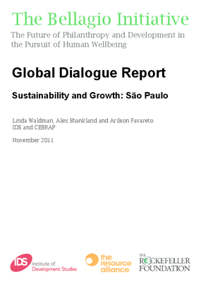 Global Dialogue Report - Sustainability and Growth: Sao Paulo