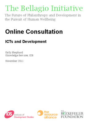 Online Consultation: ICTs and Development