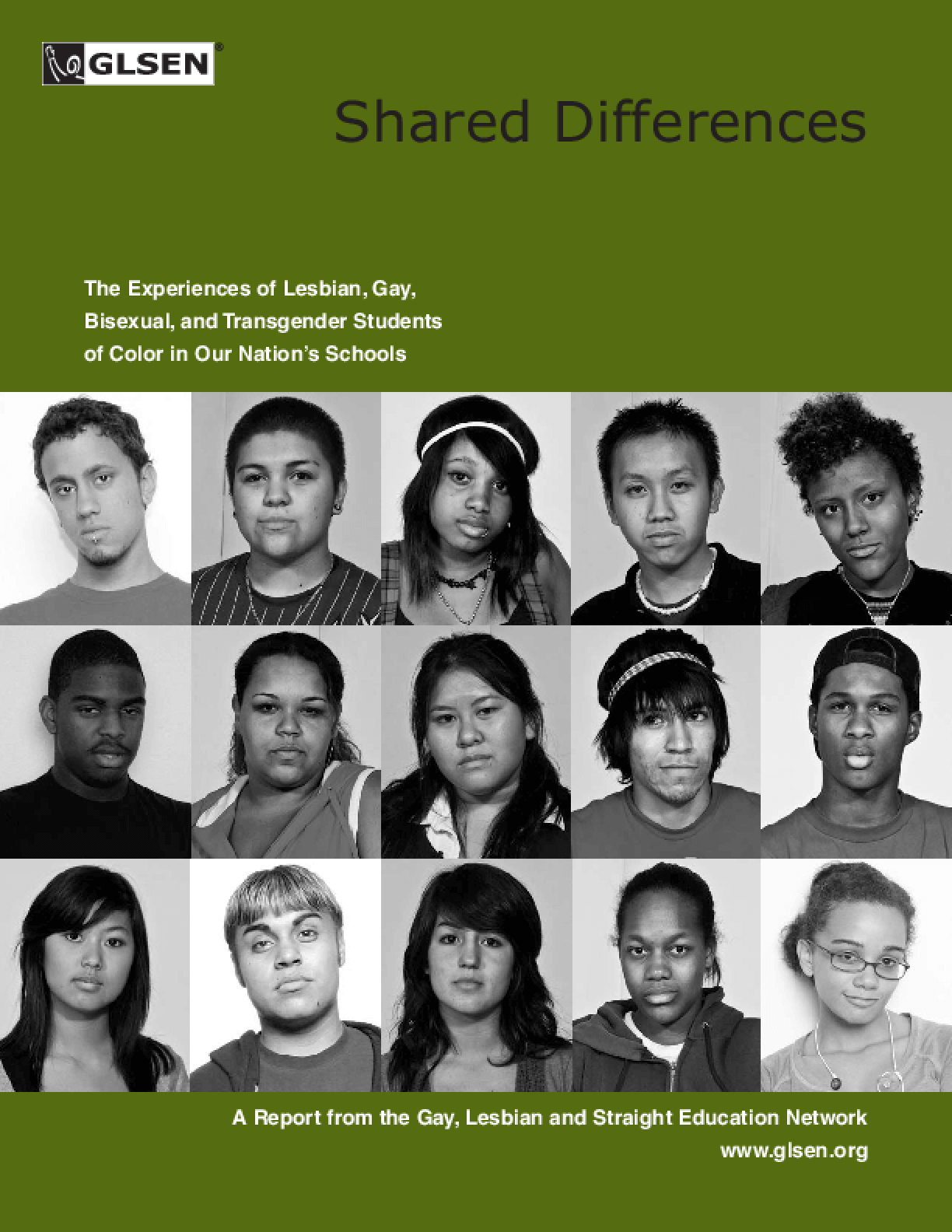 Shared Differences: The Experiences of Lesbian, Gay, Bisexual and Transgender Students of Color in Our Nation's Schools