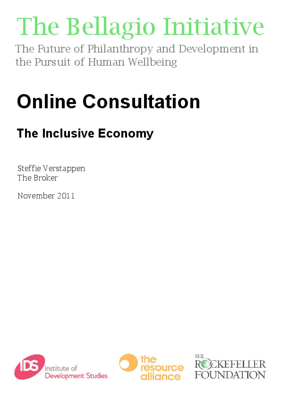 Online Consultation: The Inclusive Economy