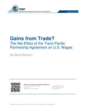 Gains from Trade? The Net Effect of the Trans-Pacific Partnership Agreement on U.S. Wages