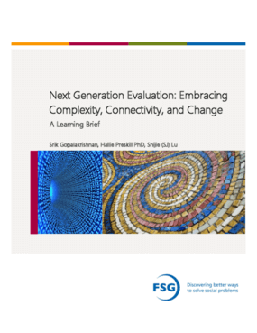 Next Generation Evaluation: Embracing Complexity, Connectivity, and Change