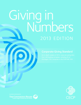 Giving in Numbers: 2013 Edition