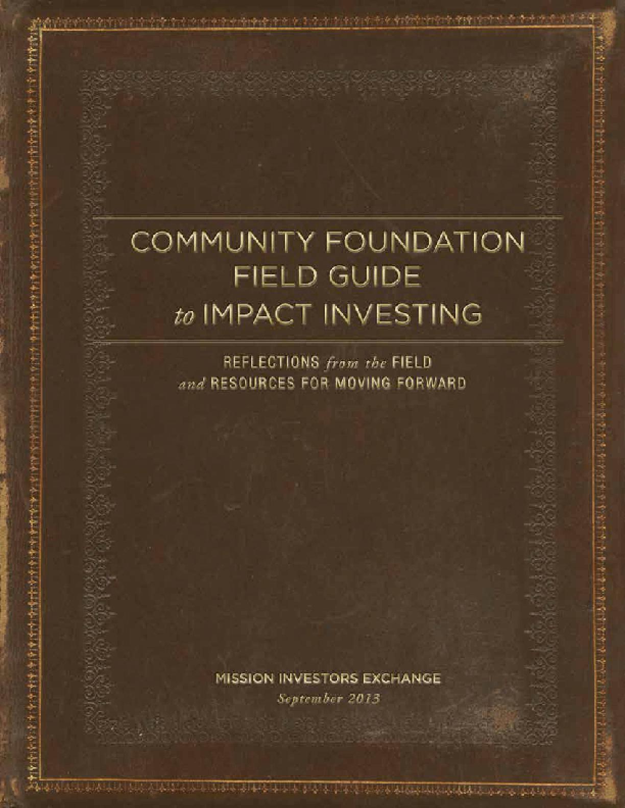 21st-Century Community Foundations