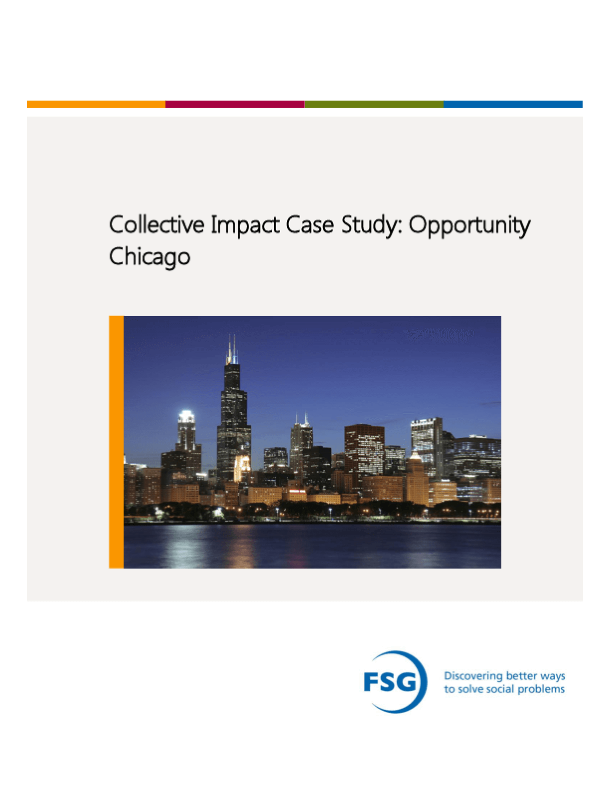 Collective Impact Case Study: Opportunity Chicago
