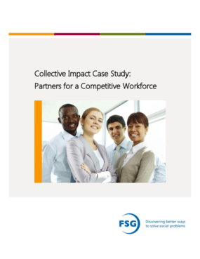 Collective Impact Case Study: Partners for a Competitive Workforce