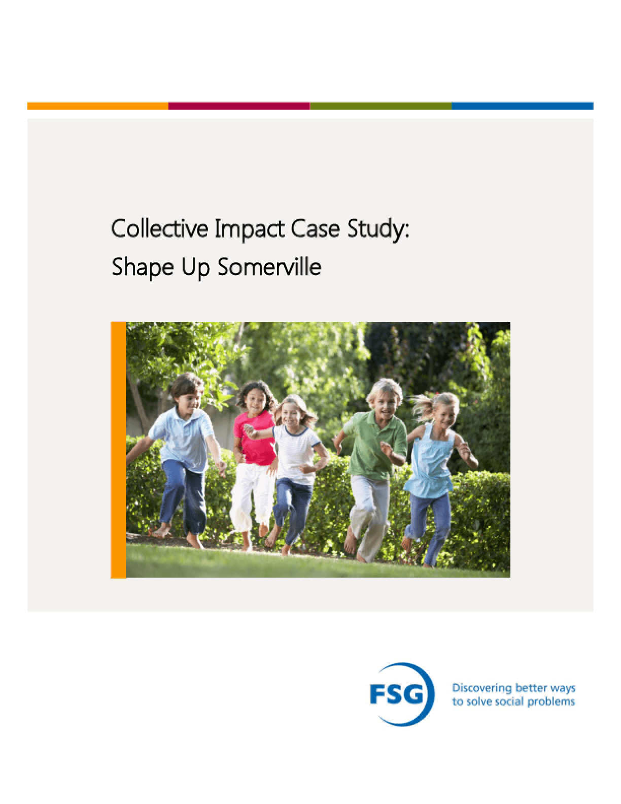 Collective Impact Case Study: Shape Up Somerville