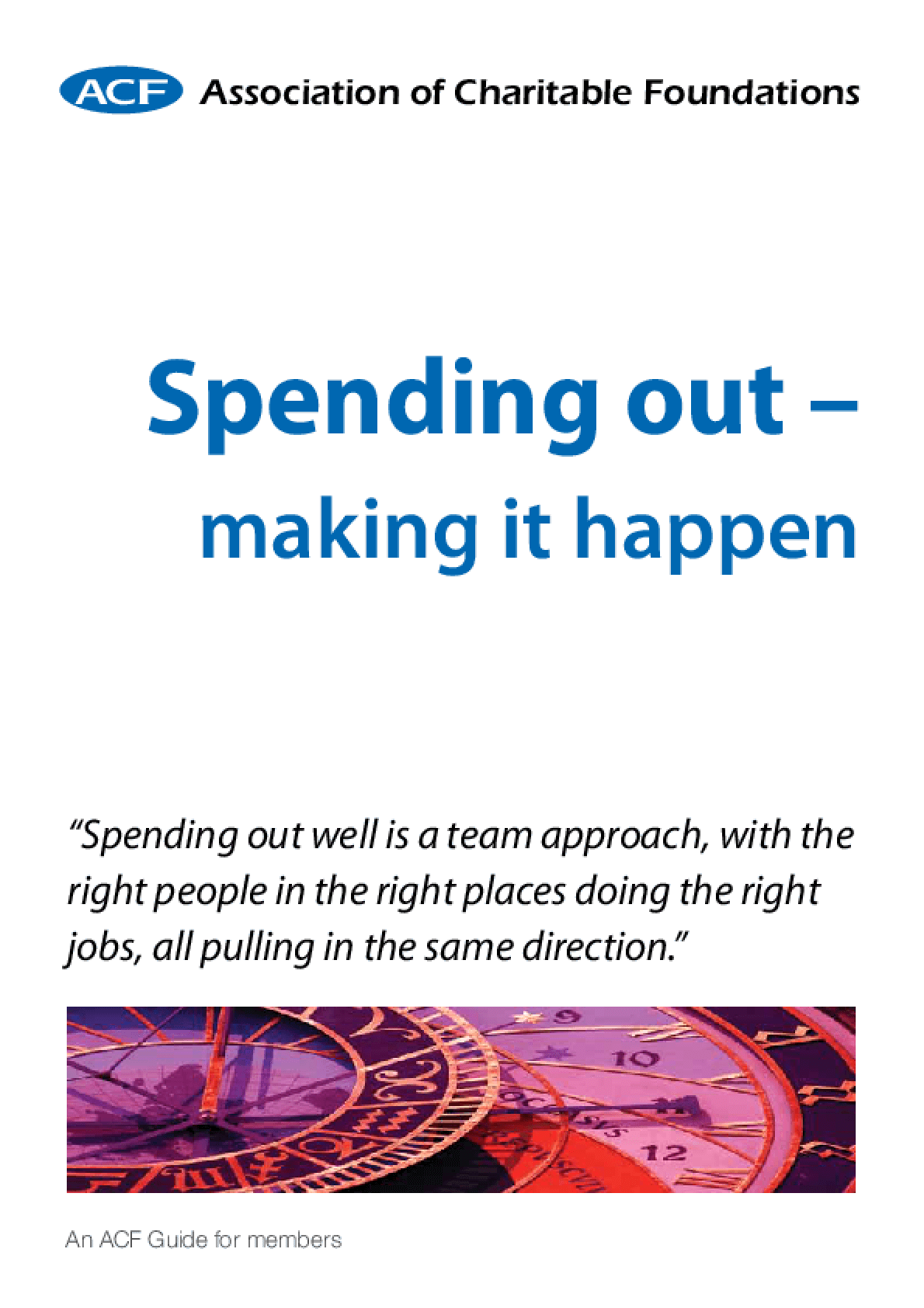Spending Out - Making It Happen