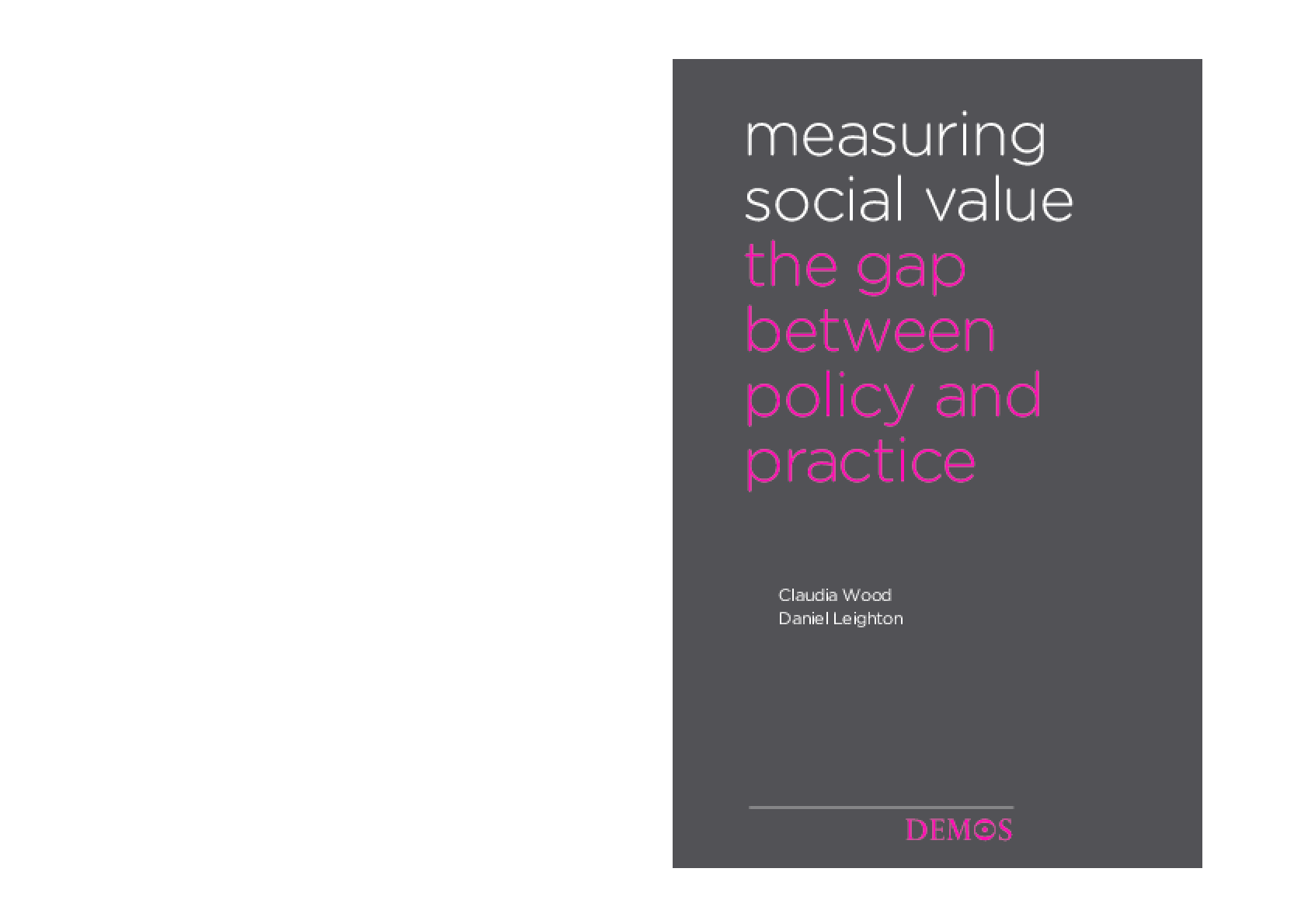 Measuring Social Value