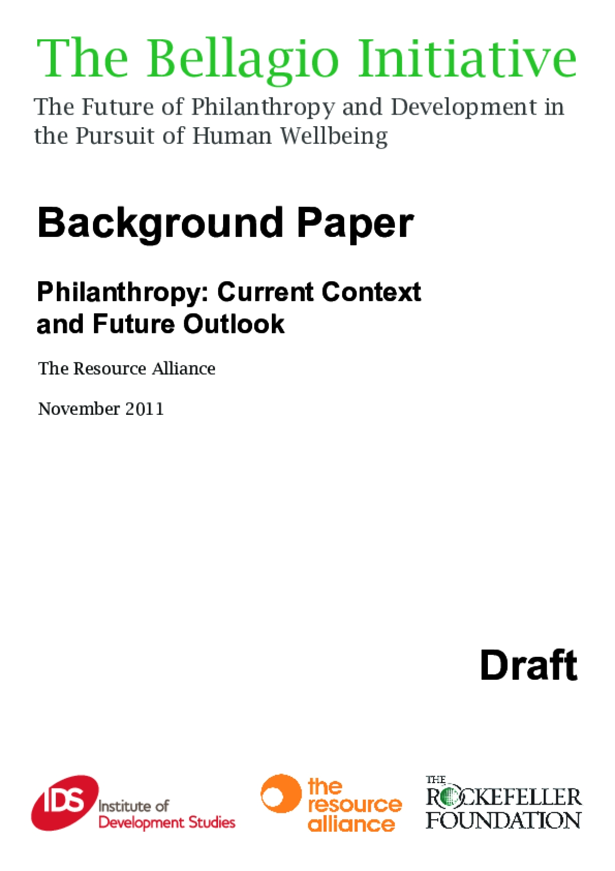 Philanthropy: Current Context and Future Outlook