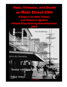 Hate Crimes and Violence Against People Experiencing Homelessness 2003