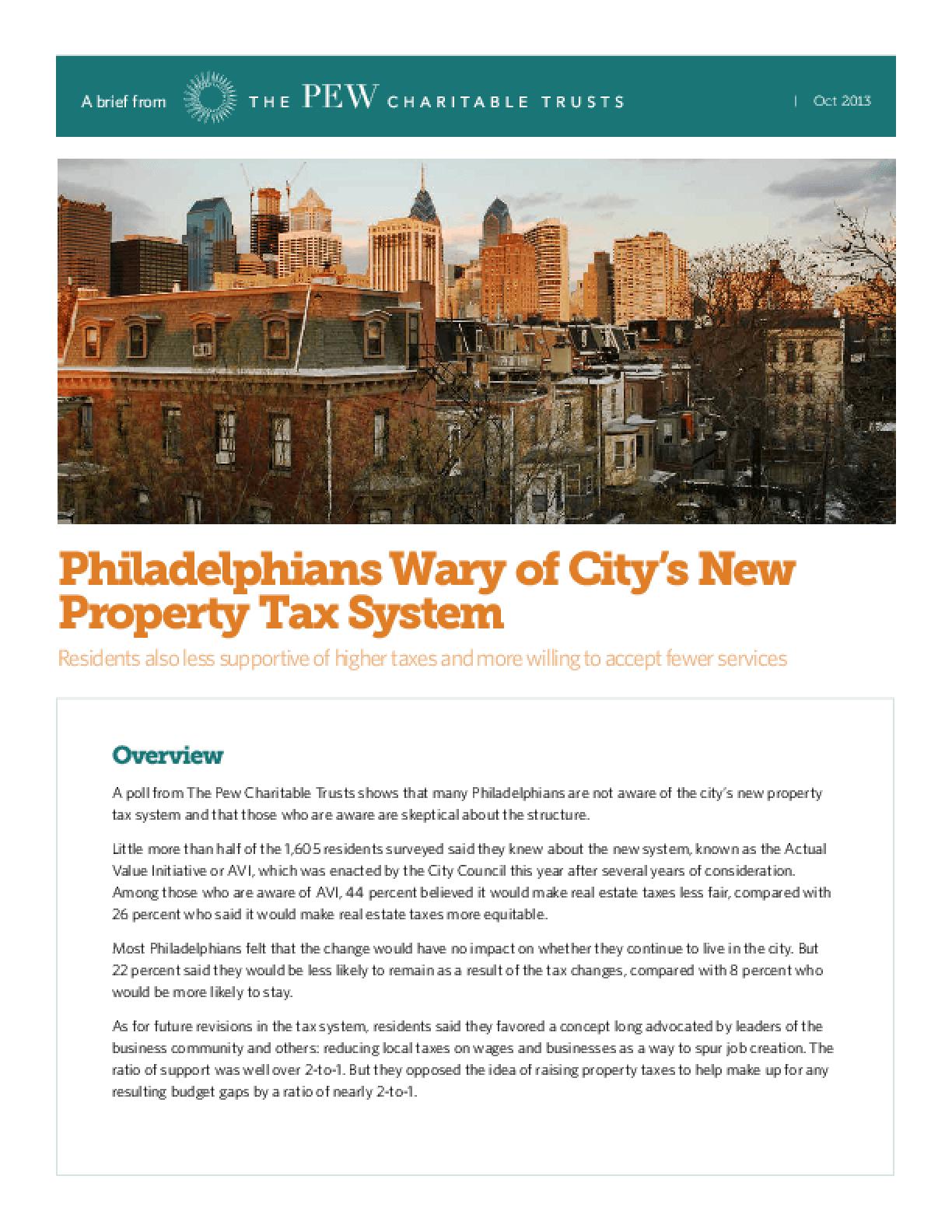 Philadelphians Wary of City's New Property Tax System