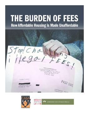 The Burden of Fees: How Affordable Housing is Made Unaffordable