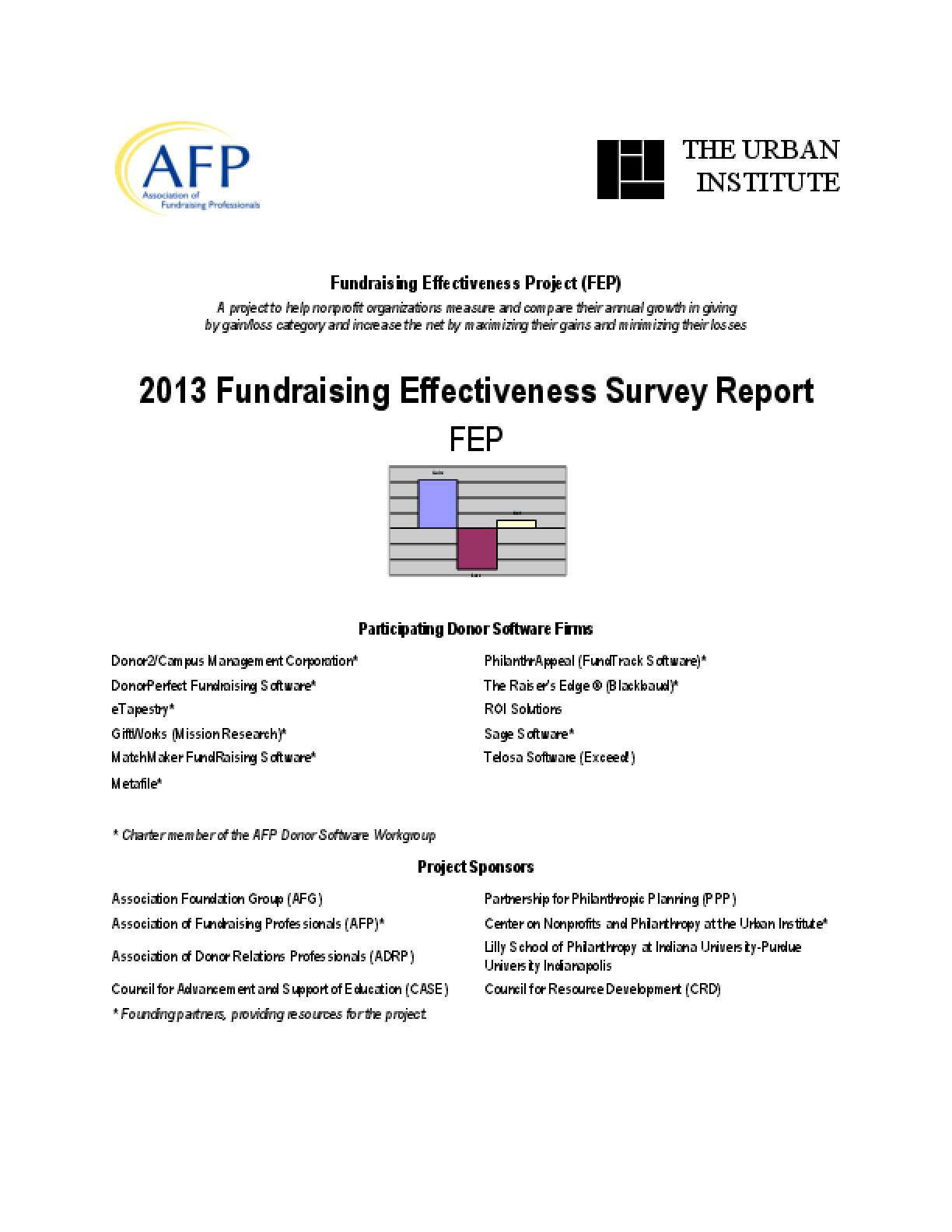 2013 Fundraising Effectiveness Survey Report
