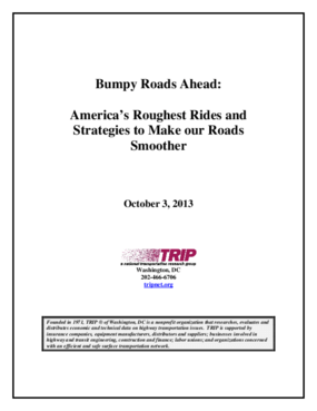 Bumpy Roads Ahead: America's Roughest Rides and Strategies to Make our Roads Smoother