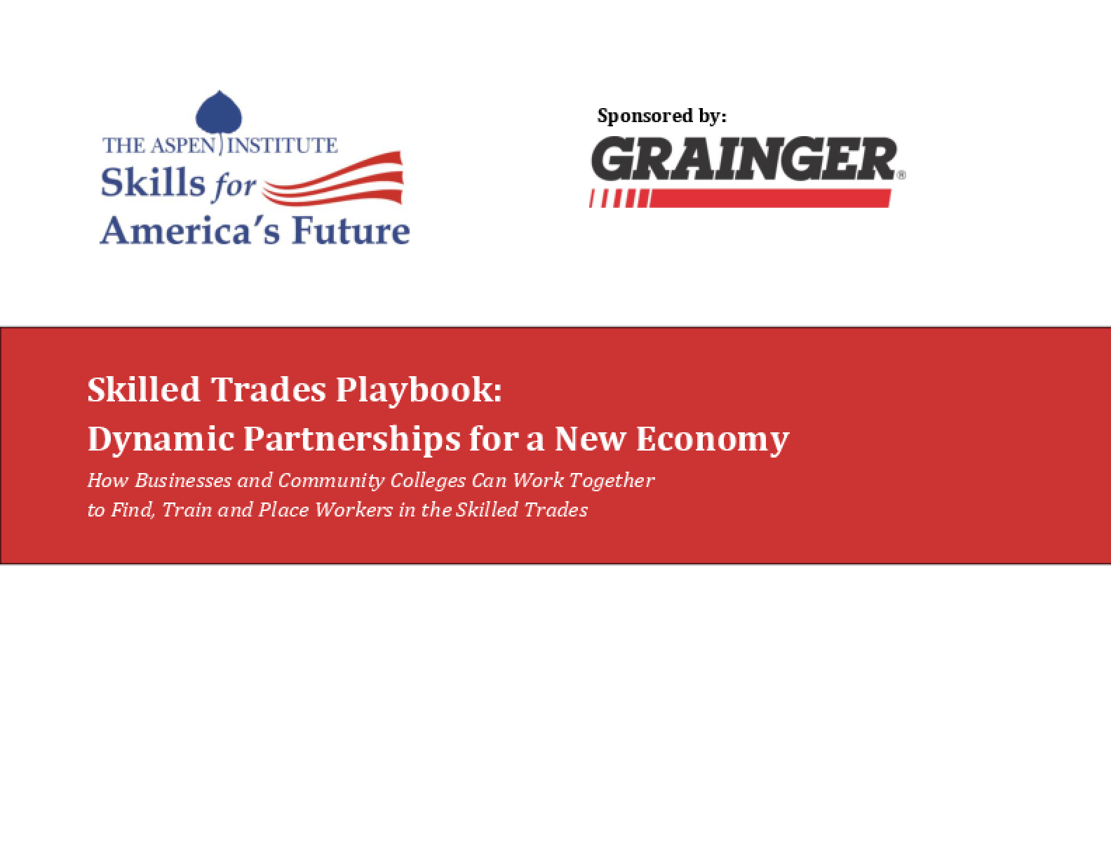 Skilled Trades Playbook: Dynamic Partnerships for a New Economy