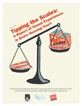 Tipping the Scales: A Report of the Tenant Experiences in Bronx Housing Court