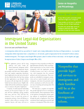 Immigrant Legal-Aid Organizations in the United states