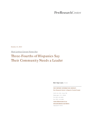Three-Fourths of Hispanics Say Their Community Needs a Leader