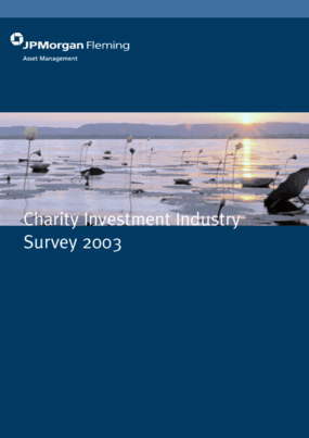 Charity Investment Industry: Survey 2003