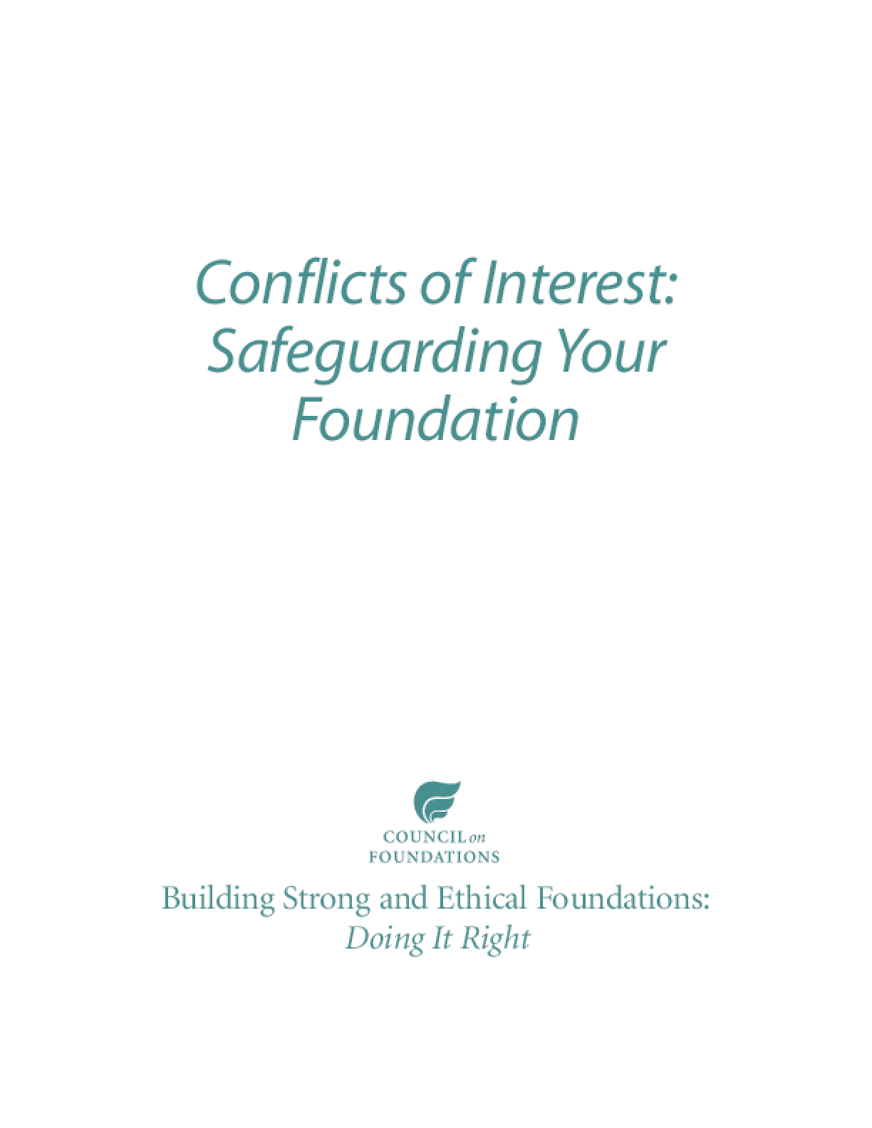 Conflicts of Interest: Safeguarding Your Foundation