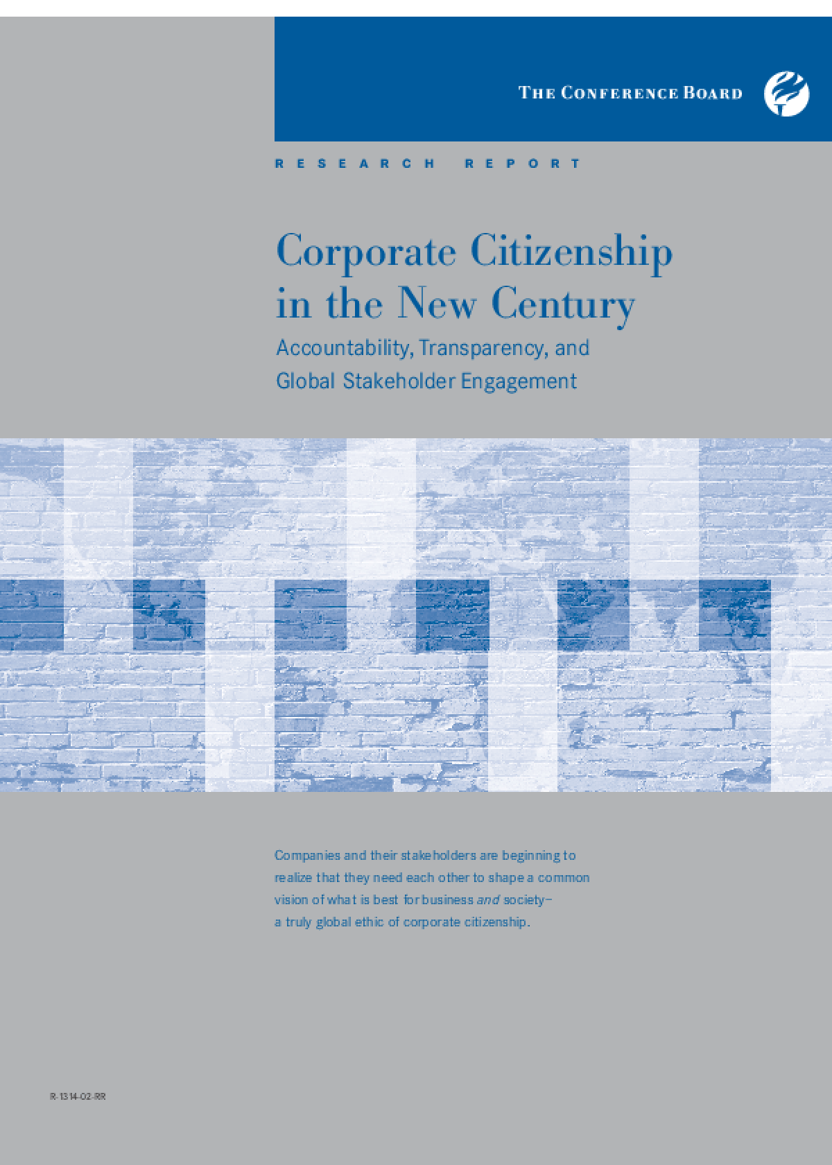 Corporate Citizenship in the New Century: Accountability, Transparency, and Global Stakeholder Engagement