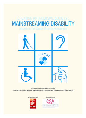 Creating an Inclusive Society: Mainstreaming Disability: Based On the Social Economy Example