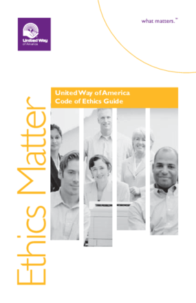 Ethics Matter: United Way of America Code of Ethics Guide