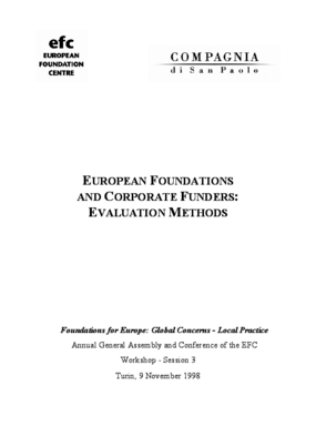 European Foundations and Corporate Funders: Evaluation Methods